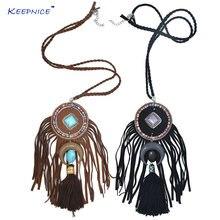 Новое шикарное ожерелье в стиле бохо с подвеской из черного
