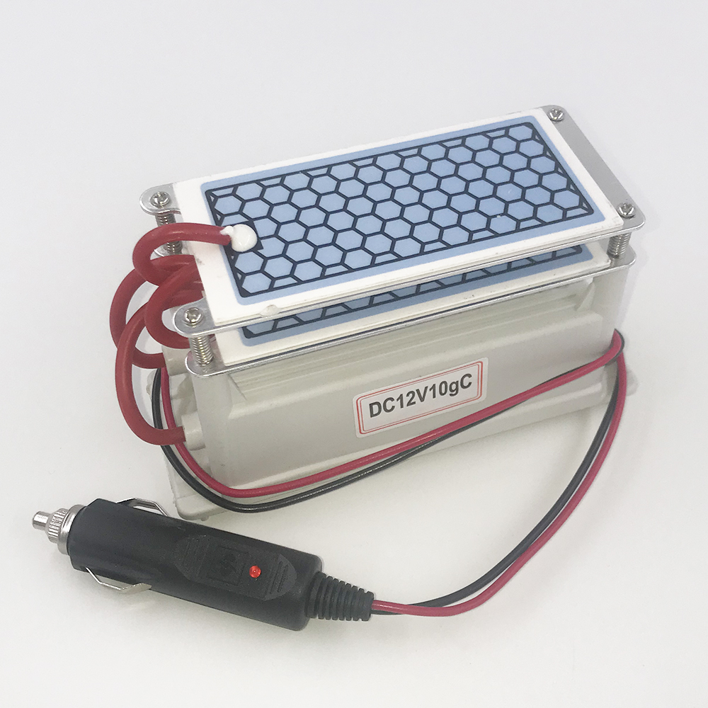 220V/ 110V/ 12V 10g Portable Ozone Generator Air Purifier Ozonizer Sterilizer For Car Or Home Use