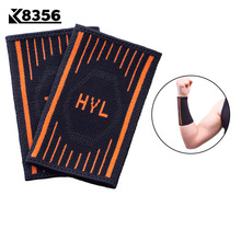 K8356 Breathable Nylon Wrist Support Sports Safety Fitness Volleyball Tennis Wrist Wraps Sweat-absorbent Wristband 1Pair