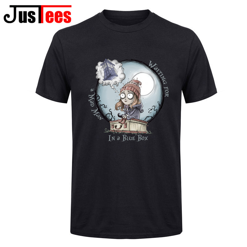 Homme Short Sleeves Tee Shirts The Girl Who Waited Doctor Who DR WHO T Shirts Men Mens T-Shirts Cotton Custom Work Undershirts