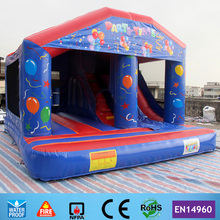 Free Shipping Commercial Birthday Party Inflatable Bouncer Castle Playground with Slide for kids