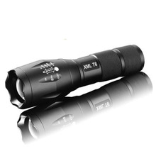 5 mode Zoomable XML L2 5000LM XL-L T6 3800lumens LED Flashlight Torch tactical  light for AAA or 18650 Rechargeable Battery