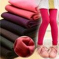 Meninas de Inverno Leggings Calças Quentes Calças de Algodão Sólidos Leggings de Lã Para A Menina Crianças Leggins De Veludo Crianças Roupas Vetement Fille