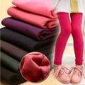 Niñas Leggings de Invierno Pantalones Calientes Pantalones de Algodón Leggings de Lana Sólida Para La Muchacha Niños Leggins Terciopelo Niños Ropa Vetement Fille