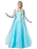 Adult Anna Elsa Princess Queen fantastic Dress Cosplay Costume Party Queen Dress Halloween Masquerade Costume Fairy