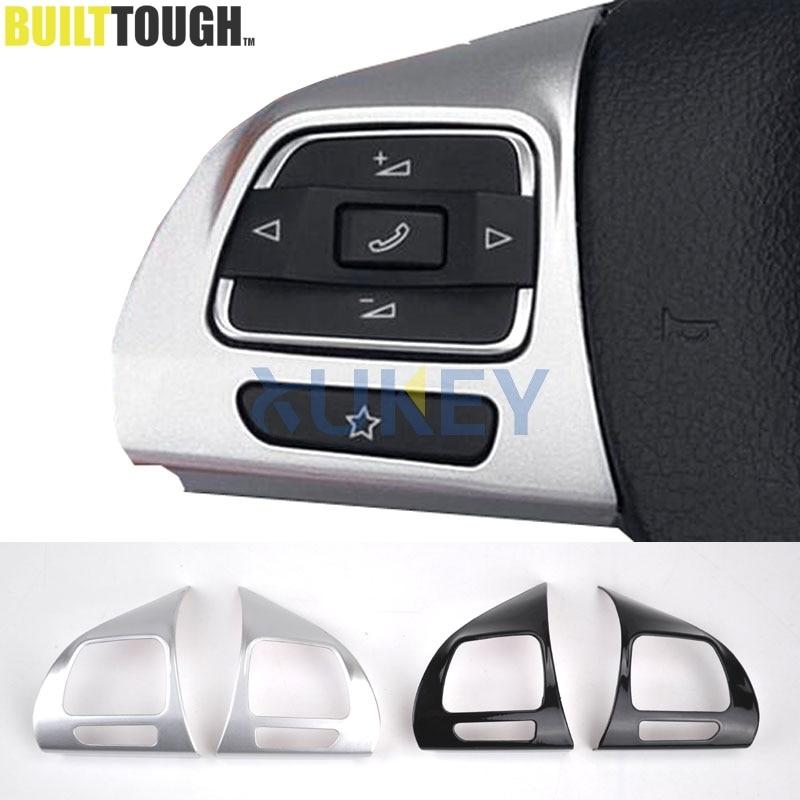 steering wheel chrome cover trim insert for vw golf 6 mk6. Black Bedroom Furniture Sets. Home Design Ideas