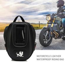 Waterproof Motorcycle Tank Bag Mobile Phone Leather Bag Fuel Tail Bag Functional Small Oil Tank Package Magnetic Fixed Straps цены