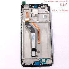 For xiaomi pocophone F1 Lcd display+touch Sensor Panel glass frame dig