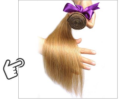 média 100% extensão do cabelo humano brilhante estrela não remy