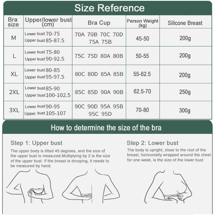 Pechos de silicona Artificial, formas de pechos postizos 300g y sujetador de mastectomía 85C para prótesis de mama postoperatoria D30