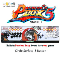 Original Pandora's Box 5 960 game board 8 button Iron Console 2 players joystick and HDMI VGA output to pc tv Game Video 720P