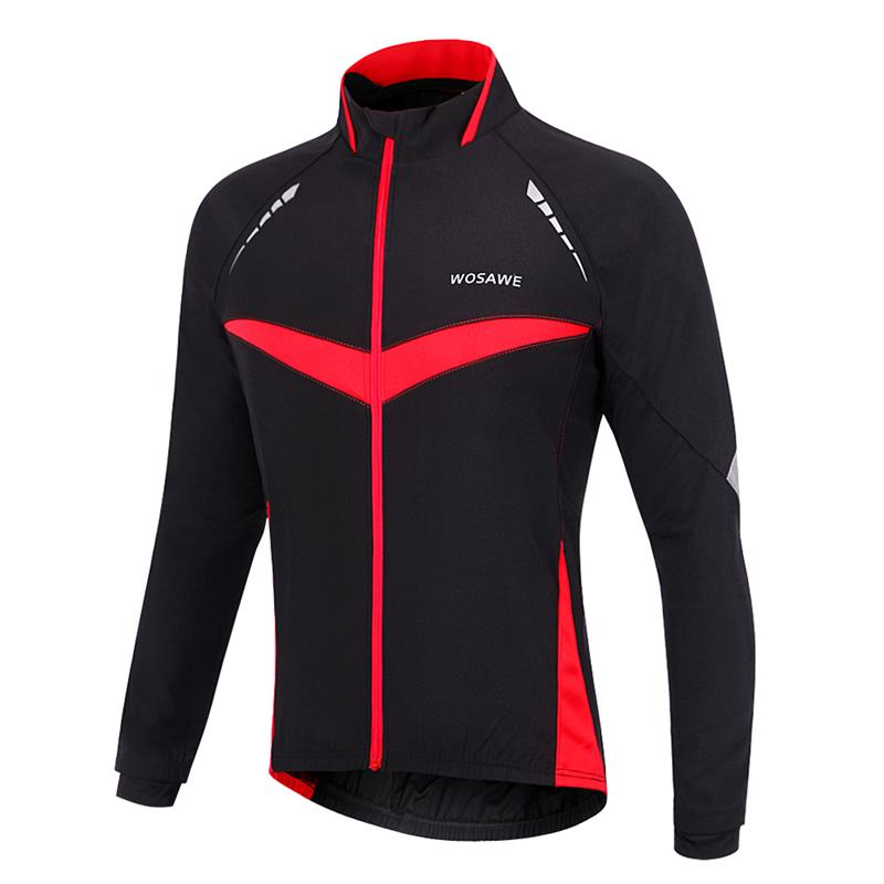 WOSAWE Winter Autumn Windproof Cycling jacket Long Sleeve Cycling Jersey  Clothing Wear Reflective Running Bike Jackets-in Cycling Jackets from  Sports ... 0e8c4db17