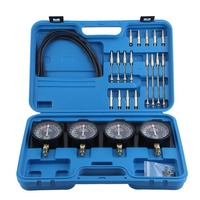 A8032 Universal 4 In 1 Fuel Vacuum Carburetor Synchronizer Set Sync Gauge Vacuum Hoses Extensions Kit For Motorcycle Repair Tool