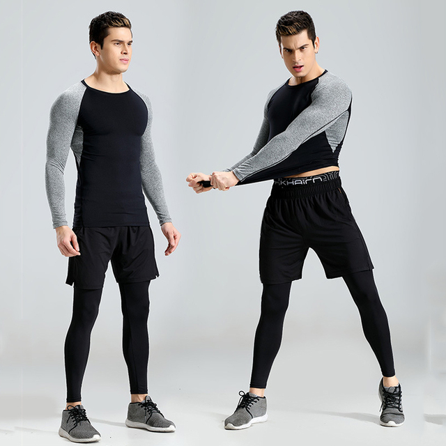 73650d11dce US $41.45 |2018 New 3Pcs Running Set Men Snake Quick Dry Mens Sport Suit  Fitness Tight Gym Clothing Training Suit Workout Men's Sportswear-in  Running ...