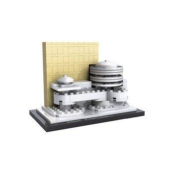 Loz mini diamond building block world famous Architecture Guggenheim Museum New York America city nanoblock model toys for kids 21035 lego