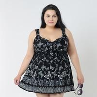 4XL 8XL Large Swimwear Skirt Big Women Plus Size One Piece Swimsuit For Fat Women One