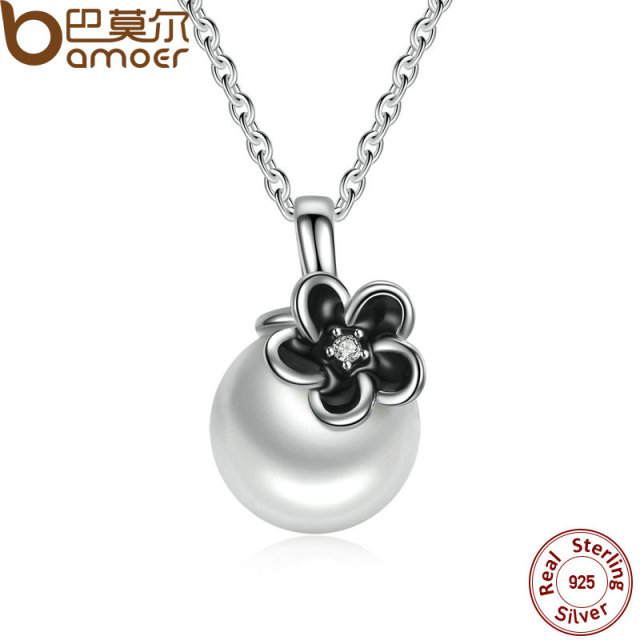 Sterling Silver Mystic Floral Pendant Necklace