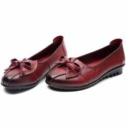 GKTINOO 2019 Shoes Woman Genuine Leather Women Shoes 3 Colors Loafers Women's Flat Shoes Fashion Women Flats 5