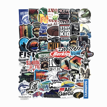 50PCS Funny Fisherman Go Fishing Car stickers For laptop suitcase Freezer Vinyl Car-styling DIY decoration Decals Sticker
