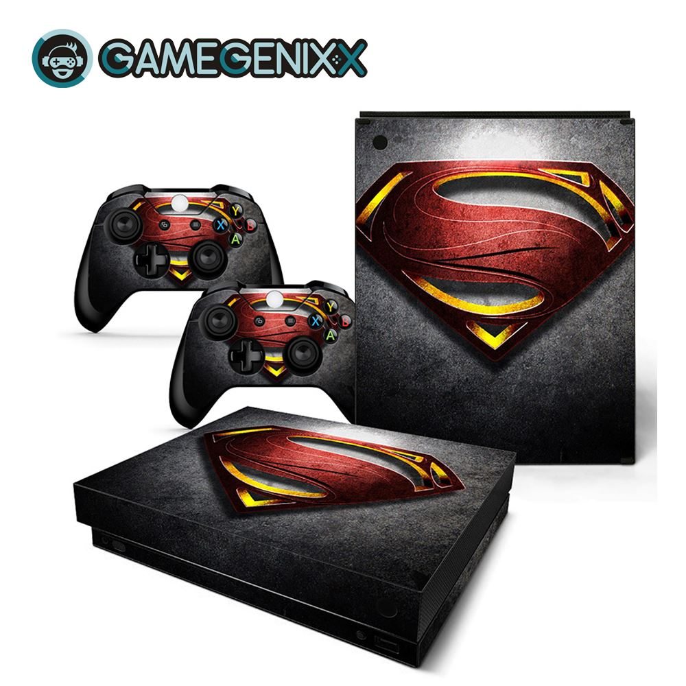 GAMEGENIXX Skin Sticker Protective Decal Removable Cover for Xbox One X Console and 2 Controllers - Superman(China)
