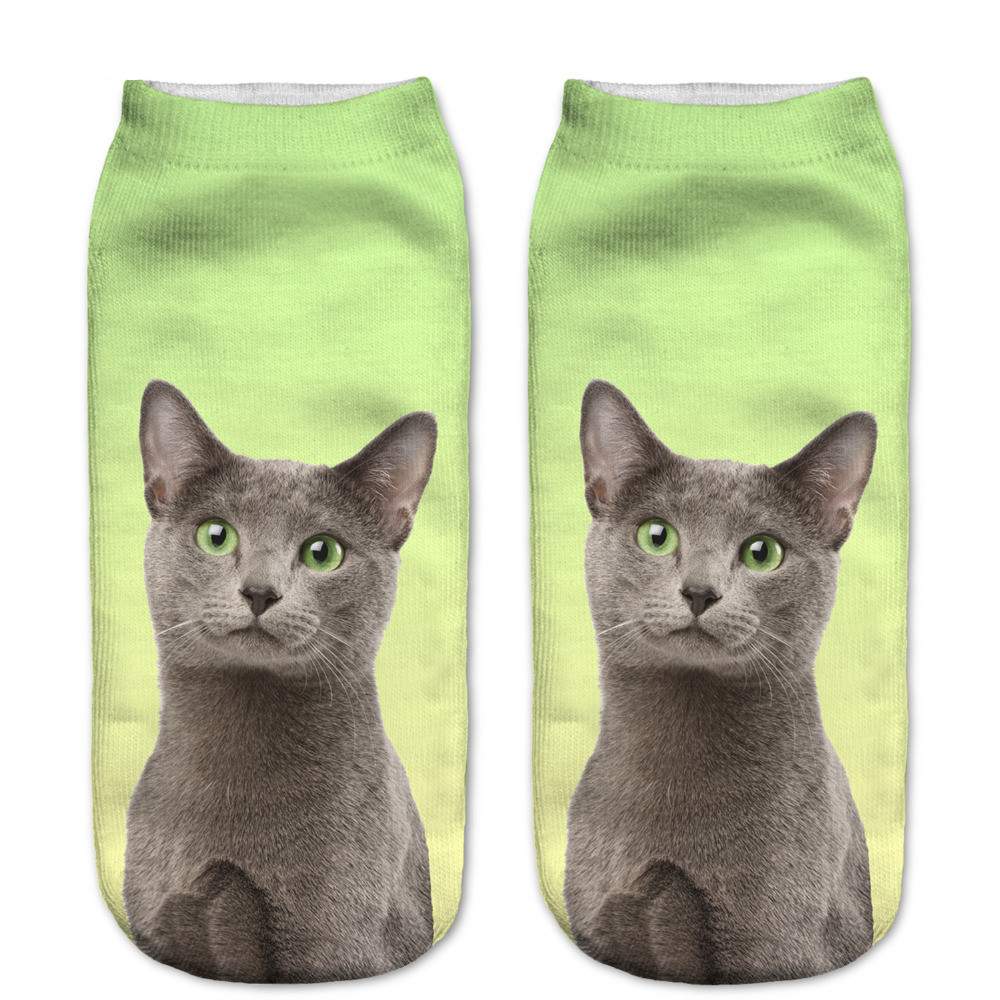 New style Cats 3D Printing Sock Women Unisex Cat Low Cut Ankle Socks Cotton Hosiery Printed Casual Socks|3d printed socks women|3d print sockslow cut ankle socks - AliExpress