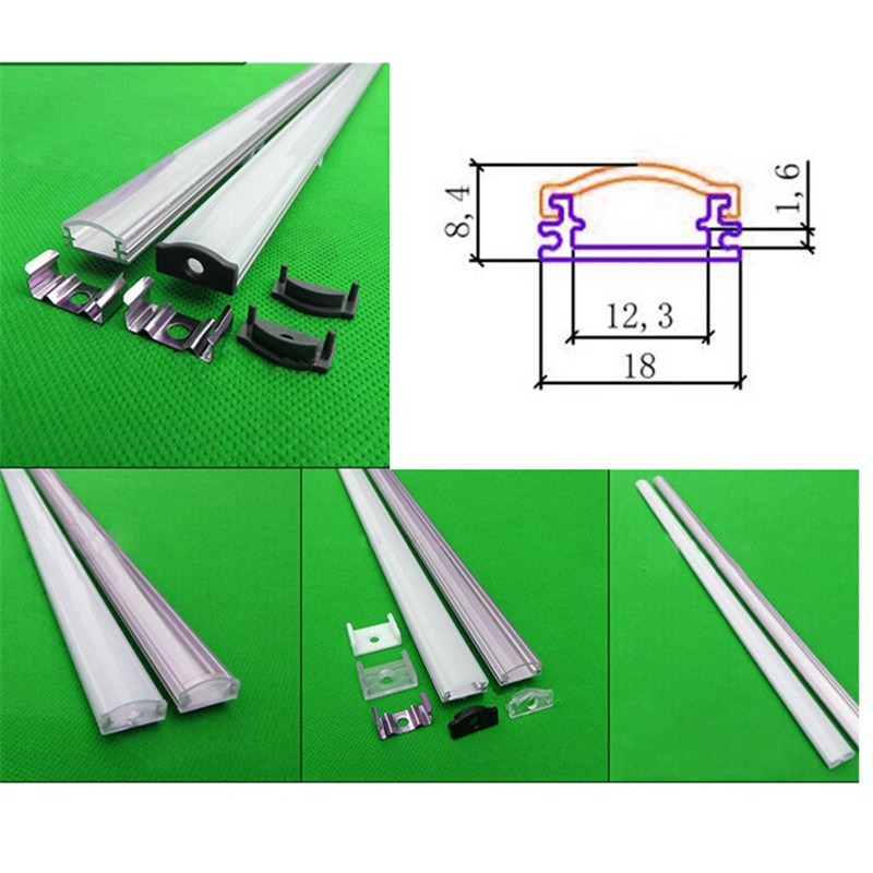 Luzes Led Bar 2-30 pçs/lote 0.5 m/pc led Material : Aluminum And pc
