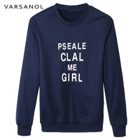 Varsanol Brand Clothing Long Sleeve Casual Sweatshirt Mens Slim Coat O Neck Outerwear Letter Pullovers Tops