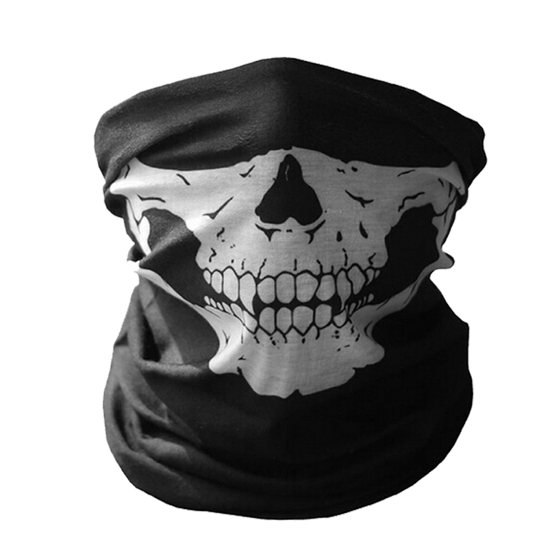 Outdoor Ghost Riding Motor Bandana Motorcycle Face Mask Scary Scarf Women Men Scarves Motocross Face Shield Halloween Ski Caps halloween scary ghost face mask white green