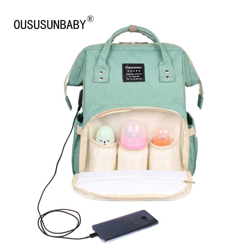 Mochila de pañales de maternidad de moda para mamá de gran capacidad Bolsa de pañales multifunción de viaje al aire libre para el cuidado del bebé