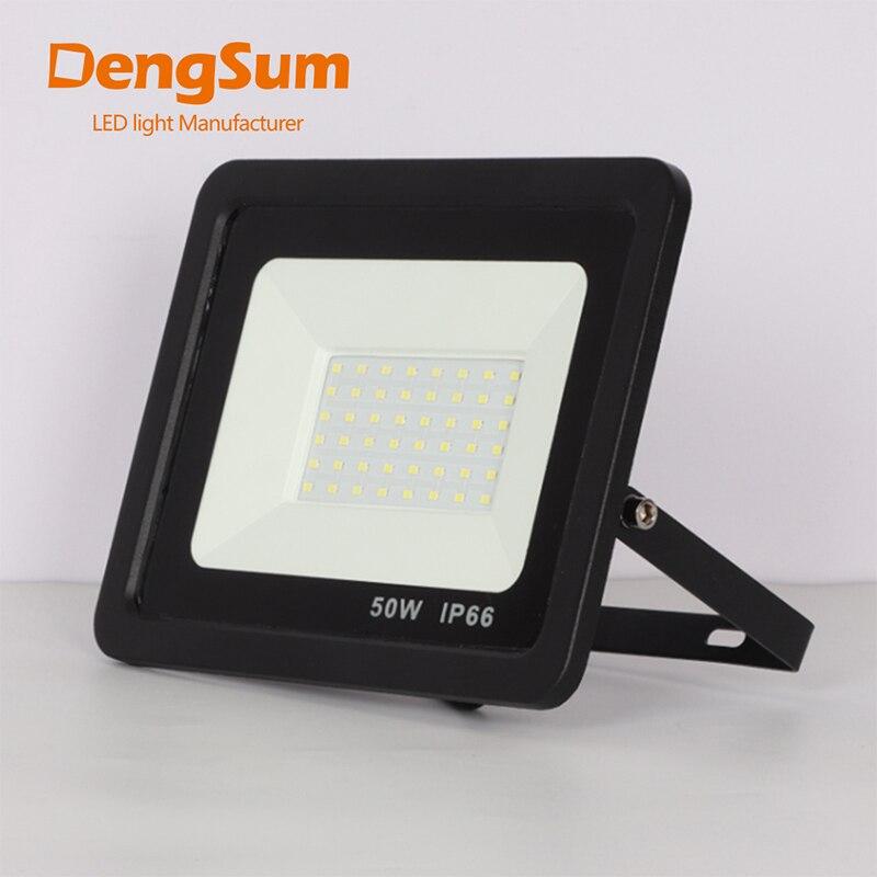 [DENGSUM]LED Floodlight 100W 50W 30W 20W 10W Ultra Thin Led Flood Light Spotlight Outdoor 220V IP66 OutdoorWall Lamp Flood Light