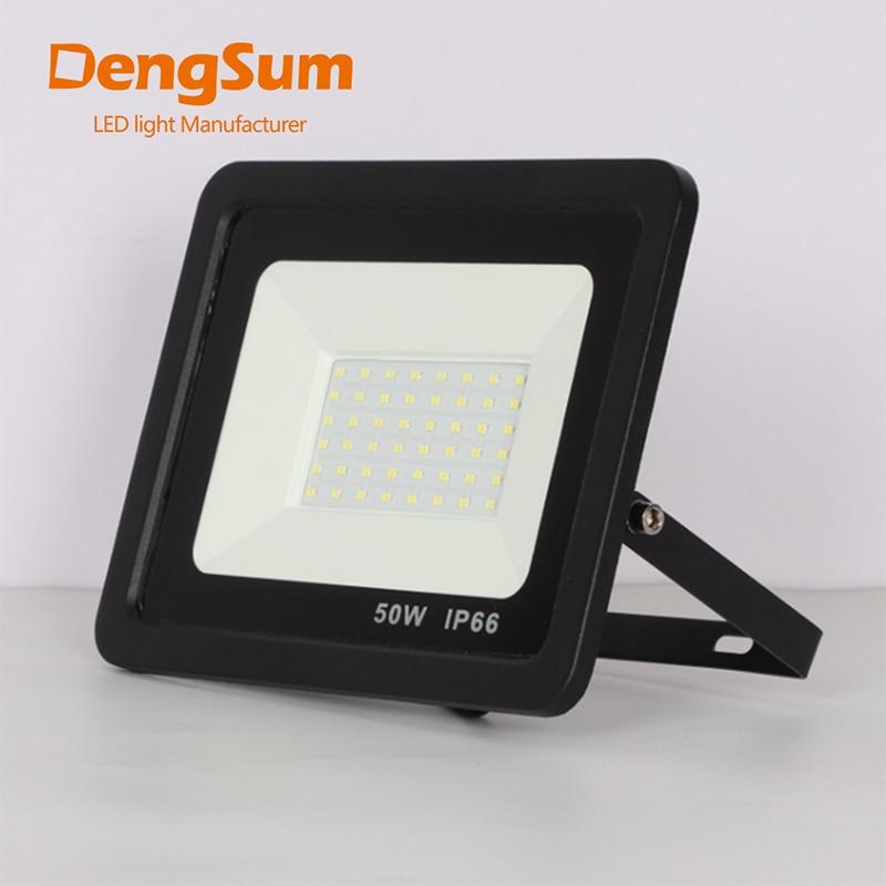 10 w 30 50 100 w conduziu a luz de inundação ip65 à prova dwaterproof água lâmpada de parede ao ar livre iluminação quente branco frio 110 v 230 v led projector