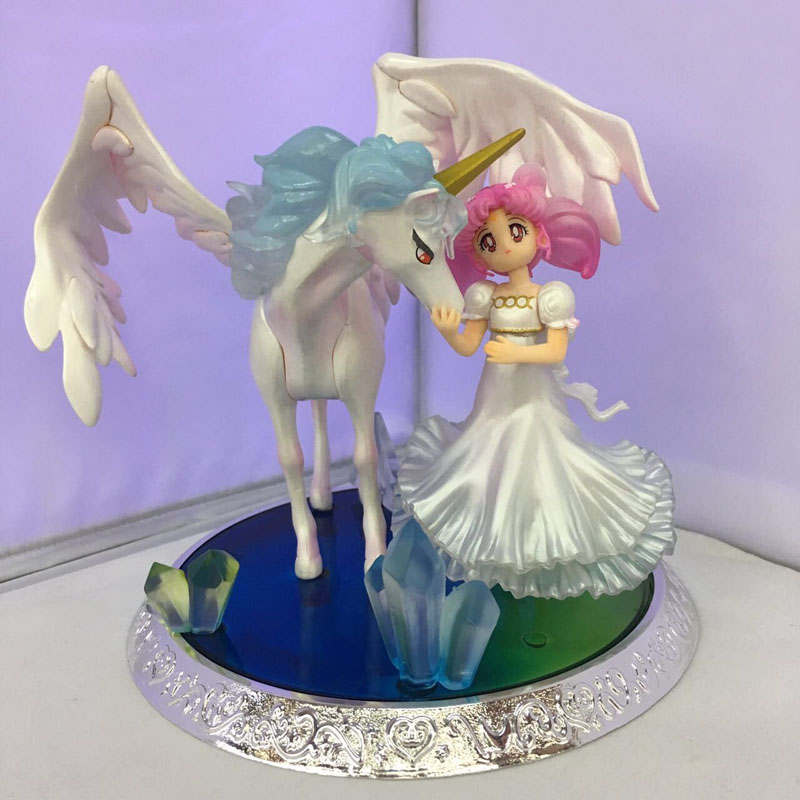 Free Shipping 6 Pretty Guardian Sailor Moon Anime Chibi-Usa & Helios Boxed PVC Action Figure Collection Model Doll Toys Gift