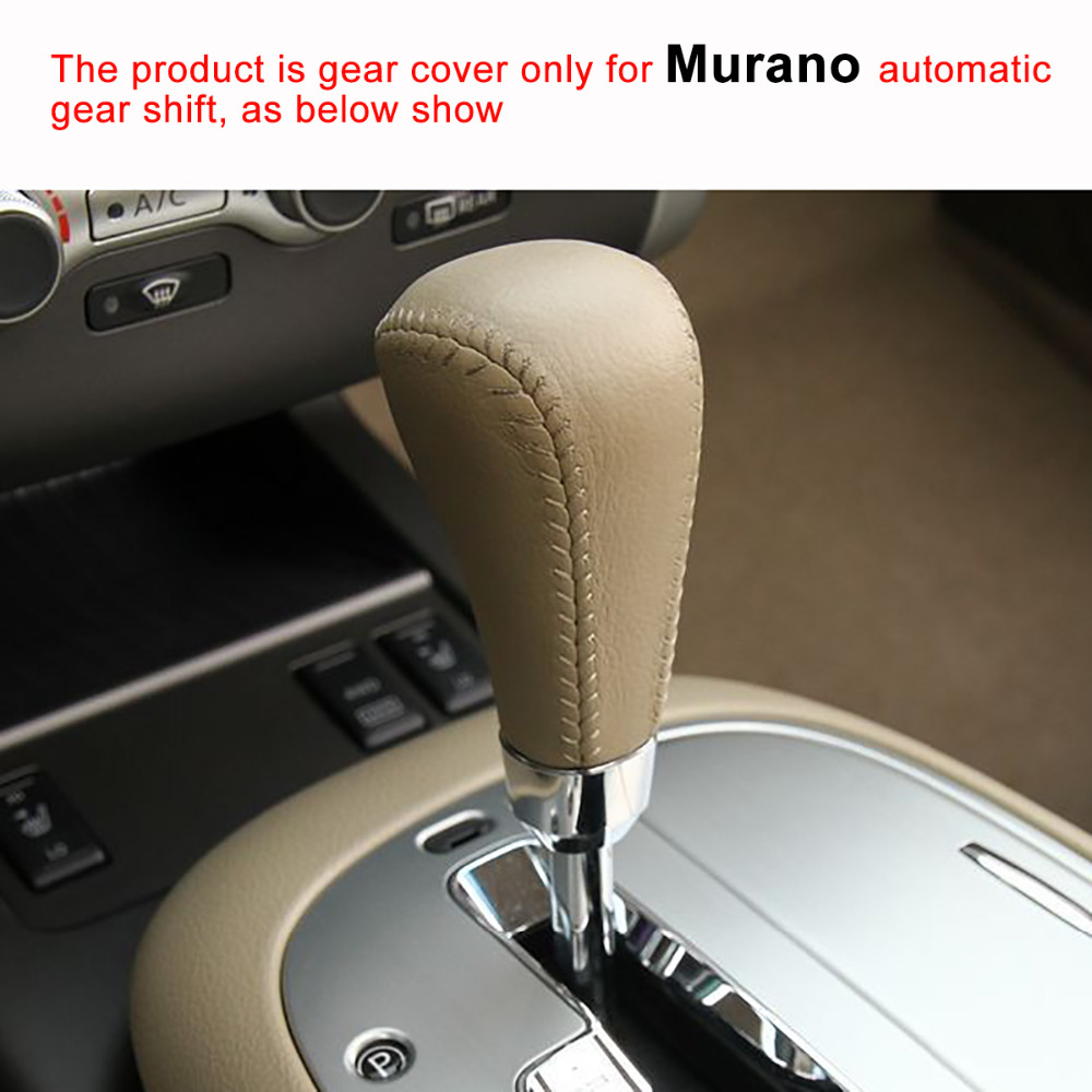 US $12 7 23% OFF|PONSNY Car Automatic Gear Covers Case for Nissan Murano  Auto Gear Shift Knob Cover Genuine Leather Hand stitched-in Gear Shift