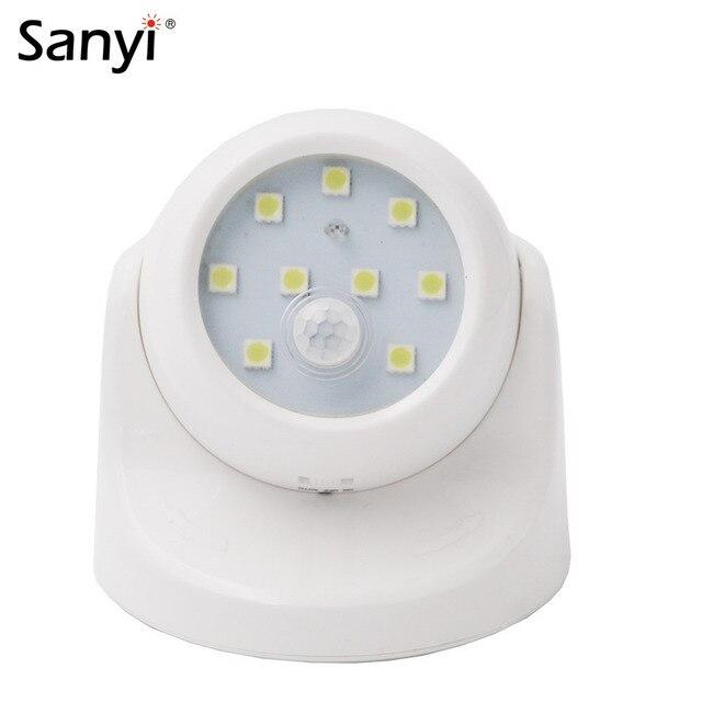 9 Détecteur De Mouvement LED Lumière Sans Fil Infrarouge Maison Intérieure  Extérieure PIR Auto Capteur Détecteur