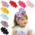Hot Marketing 2015 Big Bowknot Baby Girls Cotton Headband Children Kids Head Wraps Accessories May7