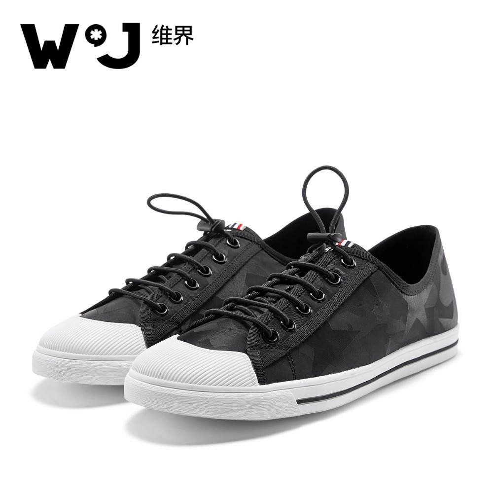 W.J Jacquard Woven Spring Summer Autumn Casual Shoes Men Lace Up Black Sneaker Black Camouflage Men Shoes the spring and summer men casual shoes men leather lace shoes soled breathable sneaker lightweight british black shoes men