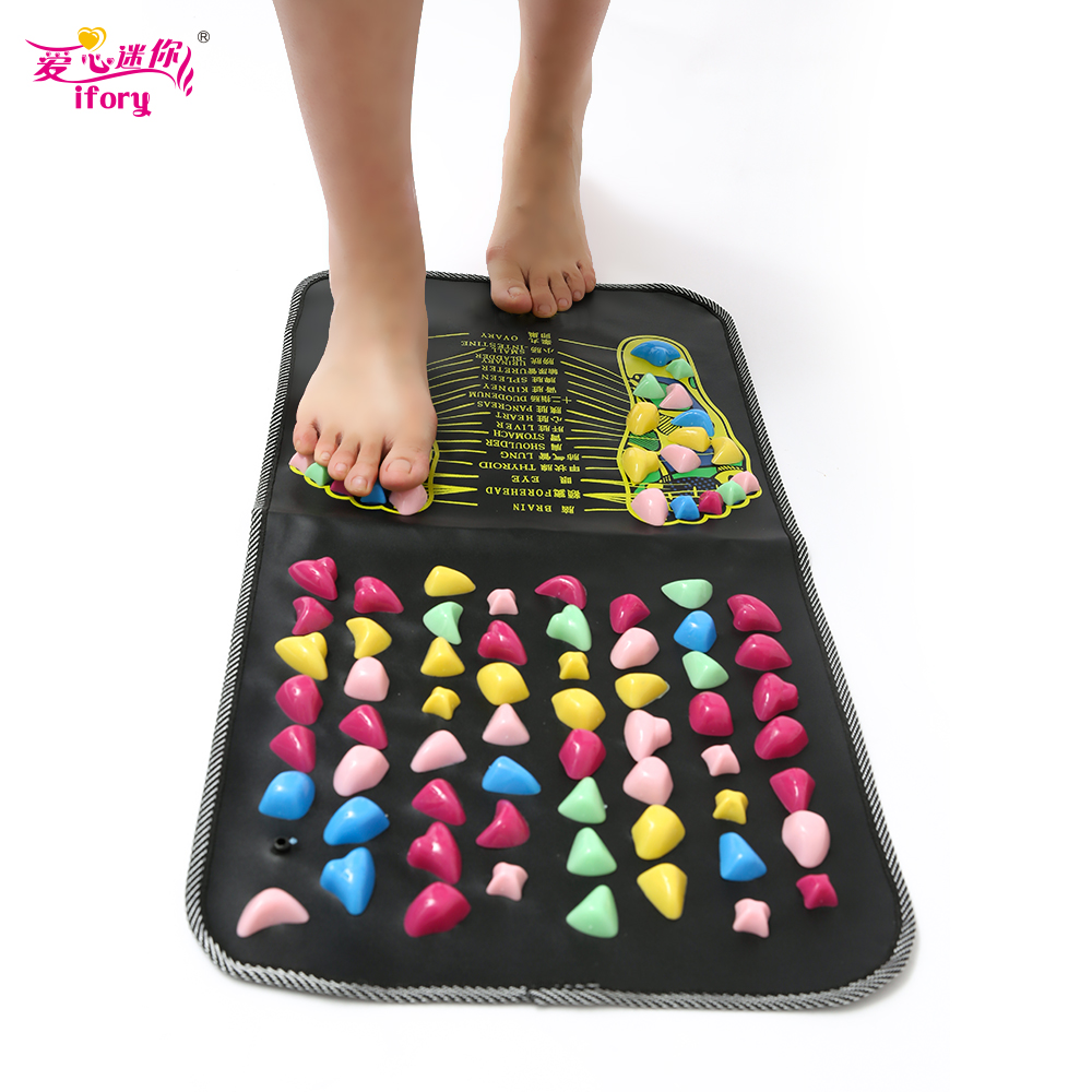 IFORY Chinese Foot Massage Pad Walk Pebbles Analgesic Massager Acupressure Massage Mat Pad electric antistress therapy rollers shiatsu kneading foot legs arms massager vibrator foot massage machine foot care device hot