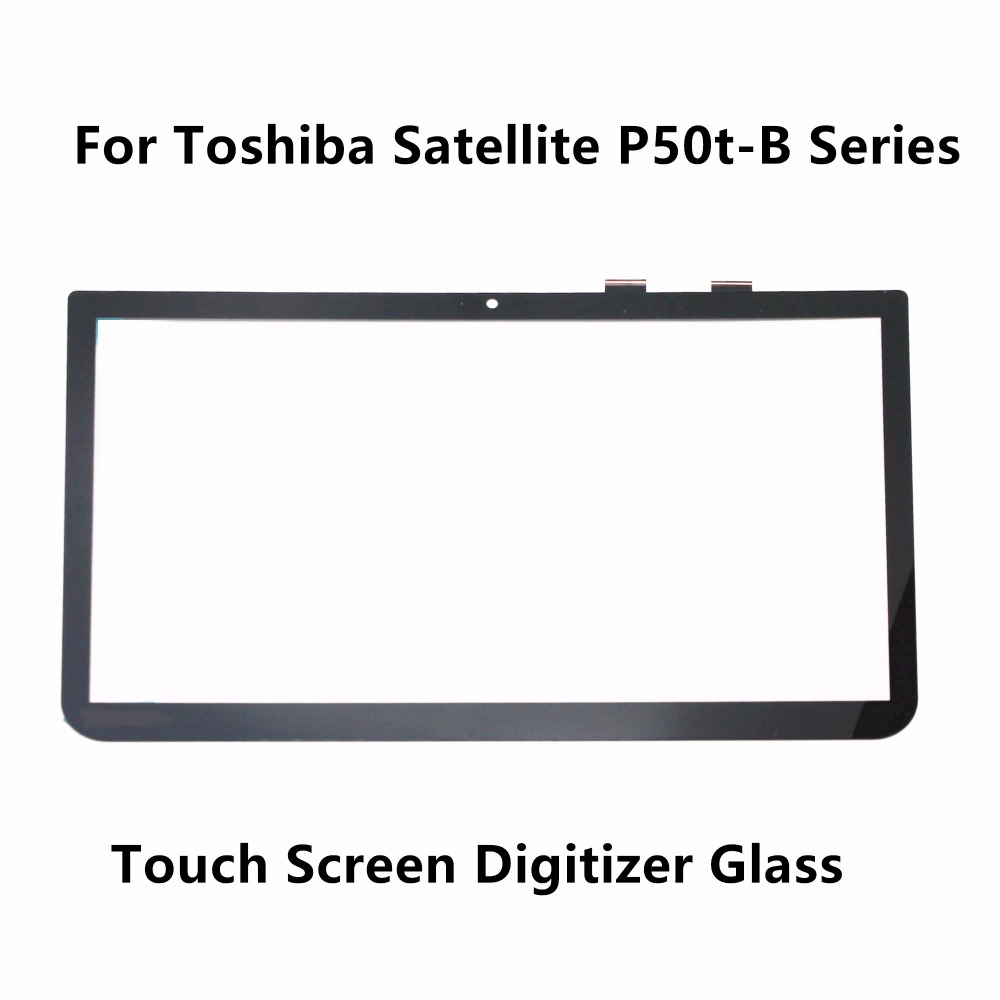 New 15.6'' Touch Panel Screen Digitizer Glass Replacement For Toshiba Satellite P55t-B Series P55t-B5235 P55t-B5360 P55t-B5340 new laptop for toshiba satellite p55t a5202 p55t a5118 lcd back top cover fit touchscreen a shell
