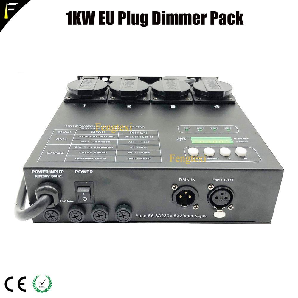 cpu tecnologia digital matrix 4 canais dmx dimmer 1kw traseira escurecimento controlador pack para a fase