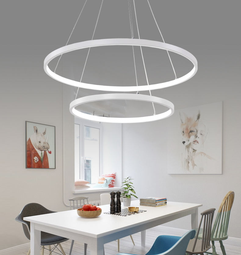 HTB15aSsr3KTBuNkSne1q6yJoXXao 60CM 80CM 100CM Modern Pendant Lights For Living Room Dining Room Circle Rings Acrylic Aluminum Body LED Ceiling Lamp Fixtures