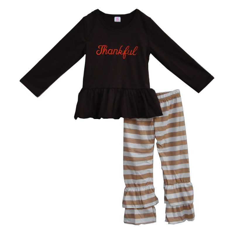 excellent nueva moda al por menor al por mayor boutique de invierno ropa nios establece top y