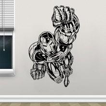 Iron Man Decal Super Hero Vinyl Wall Sticker Comics Unique Art Home Decor Kids Room Teens Bedroom Interior Mural Wallpaper 3134