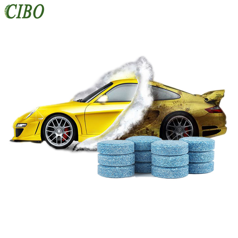10 Pcs Car Windshield Cleaning Glass Cleaner Solid Wiper Fine Auto Window Accessories