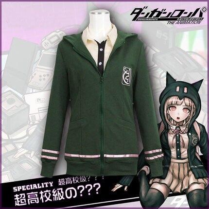 Anime Game Super DanganRonpa 2 Cosplay Costume Nanami ChiaKi Cosplay Costume Coat Jacket Shirt Skirt Full Set Halloween Costume