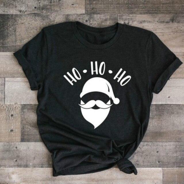 2583b1b6 HO ho Ho Santa Claus Chirstmas T-Shirt Father Christmas Santy tshirt Women  unisex funny tees tops