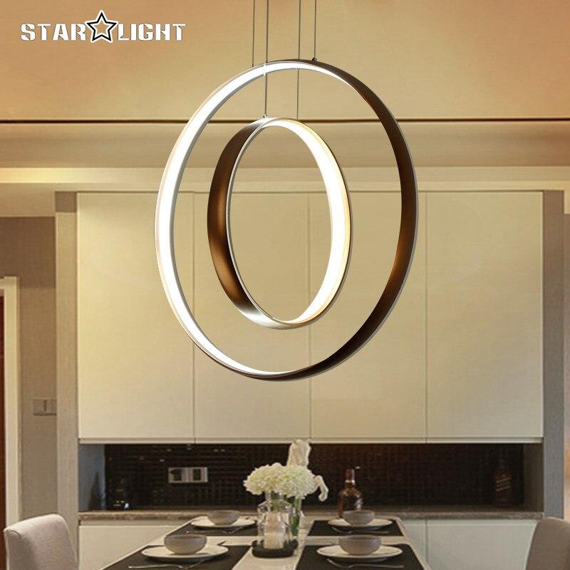 Modern pendant LED lights Dimming Circle Rings Golden aluminum body LED Lighting ceiling Lamp fixtures for living room dining