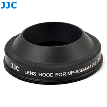 JJC LH E65 Zonnekap Voor CANON Lens MP E 65mm f/2.8 1 5x Macro Foto Vervangt CANON MP E65 Camera accessoires