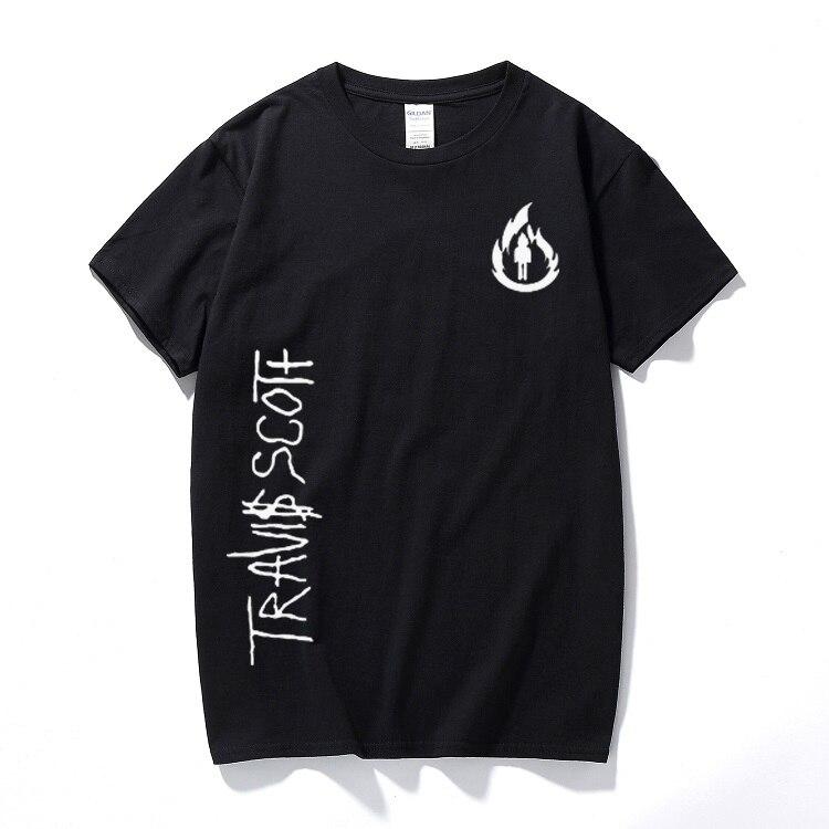 Rock Punk T-Shirt à manches courtes hommes VINTAGE TRAVIS SCOTT La flamme MugShot rodéo Tour spécial imprimé T-Shirt Homme haut décontracté Tee-Shirt
