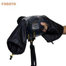 Fosoto фото Профессиональная цифровая зеркальная Камера крышка Водонепроницаемый непромокаемые дождь мягкая сумка для Canon Nikon Pendax Sony Зеркальные фотокамеры