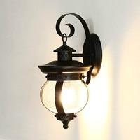 Американский Открытый водостойкий одна голова настенный светильник Винтаж краткое открытый балкон стекло освещение светодио дный установ